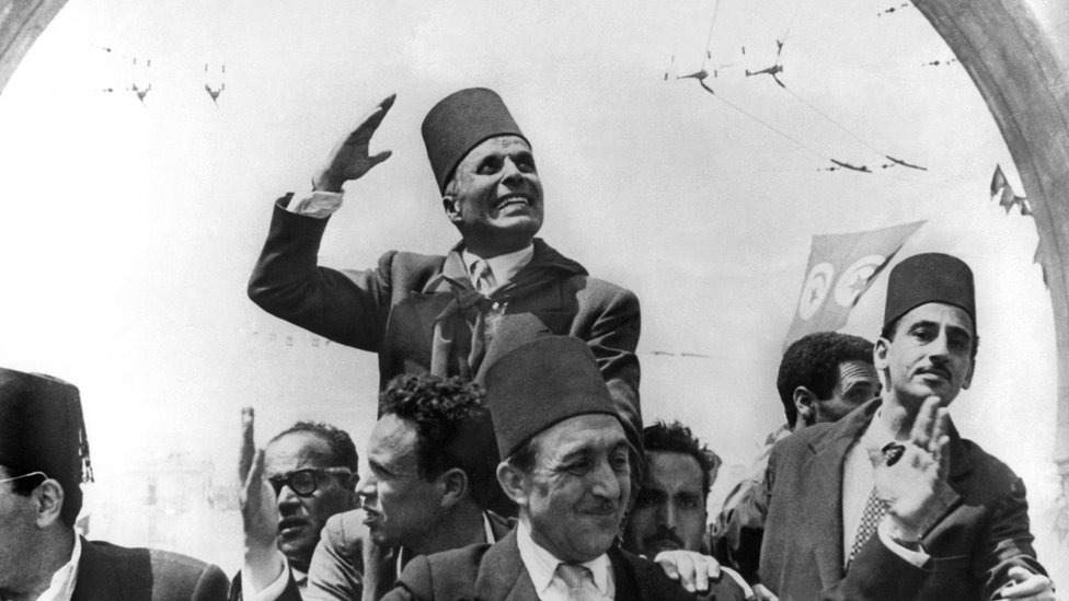 Tunisian leader Habib Bourguiba