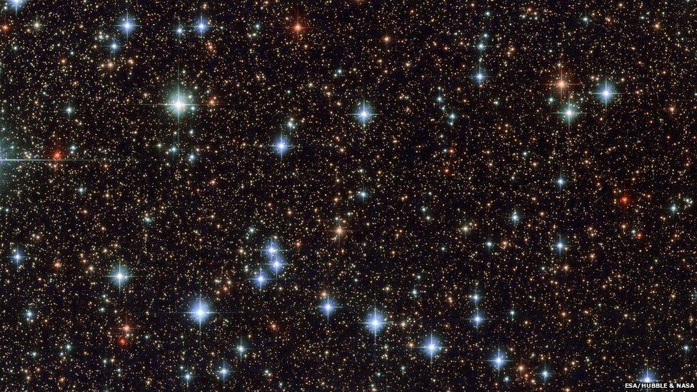 Parte del cielo en la constelación de Sagitario