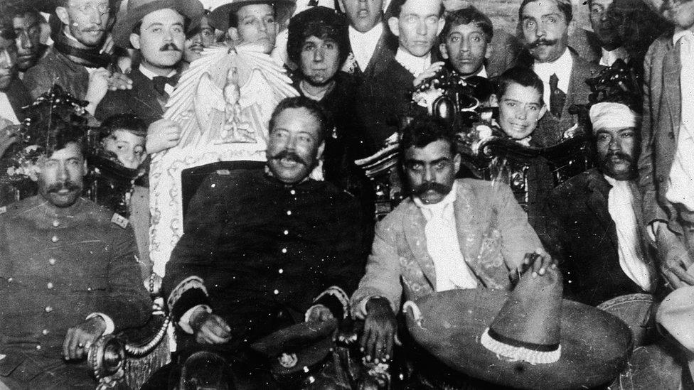 Mexican revolutionary leaders Pancho Villa and Emilio Zapata