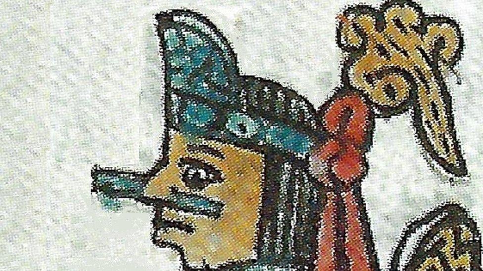 """Cuitlahuac, representado en los """"Códices Matritenses""""."""
