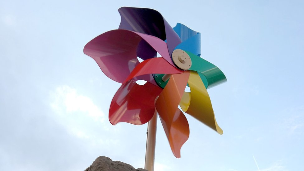 Banksy's Dismaland pinwheel to go on show in Weston