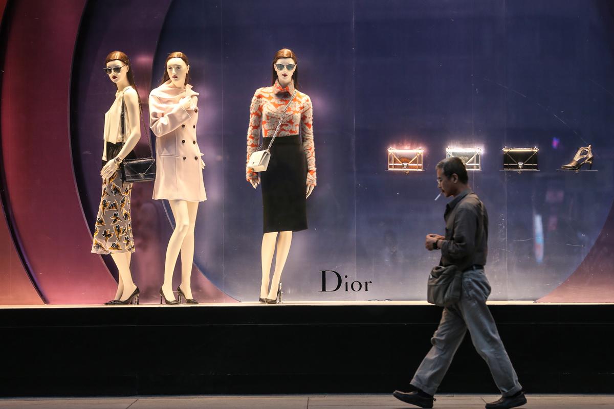 The Dior shop in Dalian