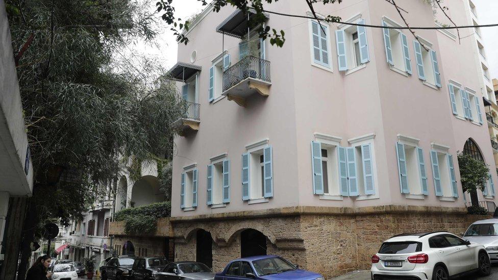 Casa supuesta de Ghosn en Beirut.