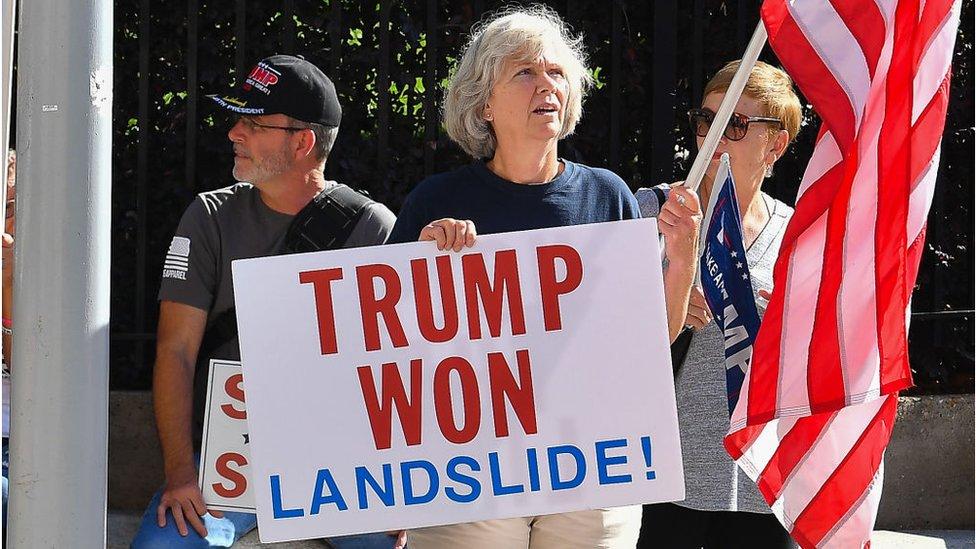 Simpatizantes de Trump protestan en Alabama