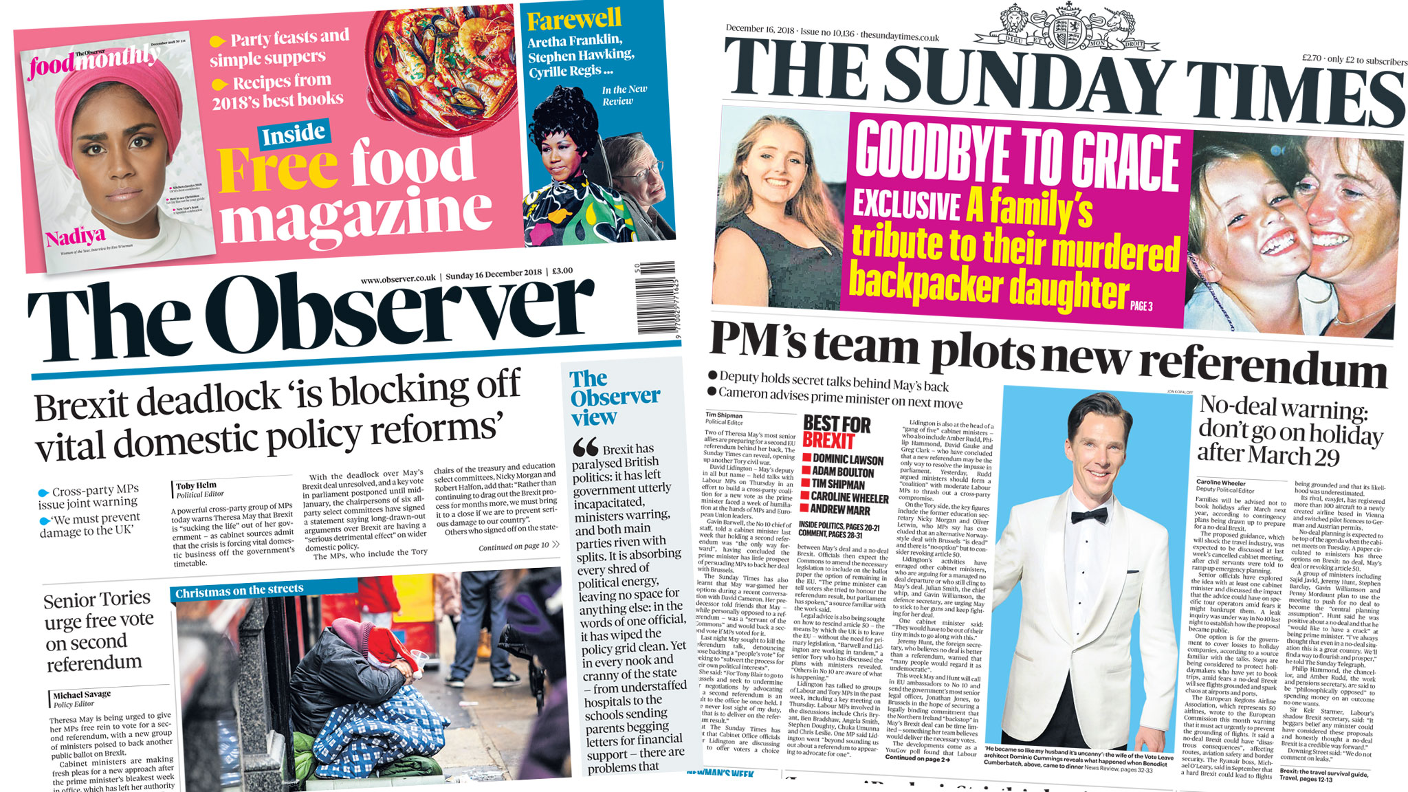 The Papers: 'PM's team plots new referendum'