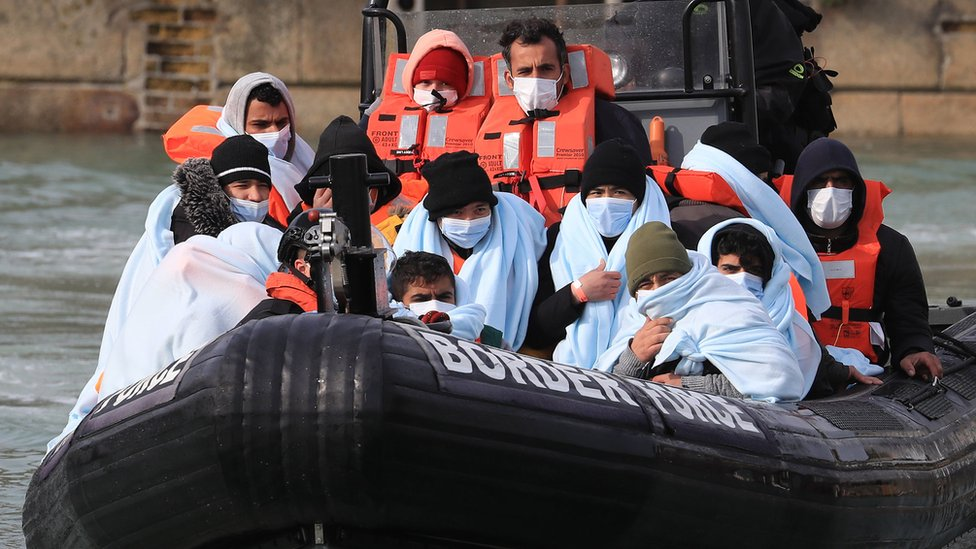 Migrants being brought into Dover