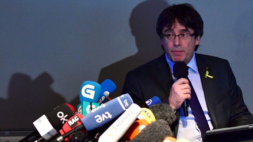 Former Catalan president Carles Puigdemont