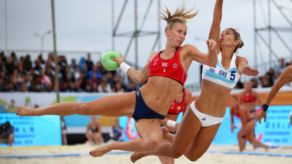 Grecia y Brasil son los campeones mundiales del balonmano de playa.