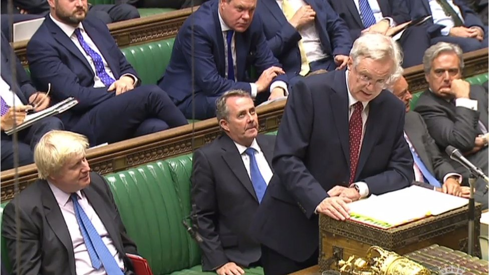 David Davis speaks in the House of Commons
