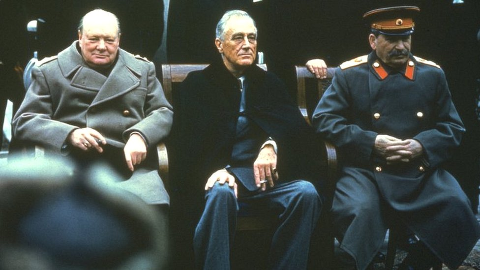 Veliki trio - Vinston Čerčil, Frenklin Ruzvelt i Josif Staljin