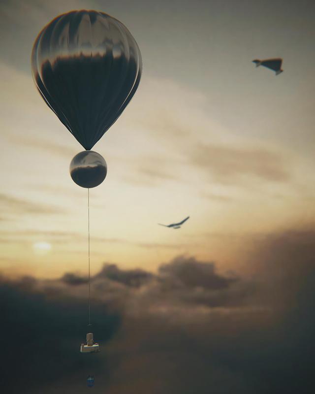 Ilustración: globo en Venus.