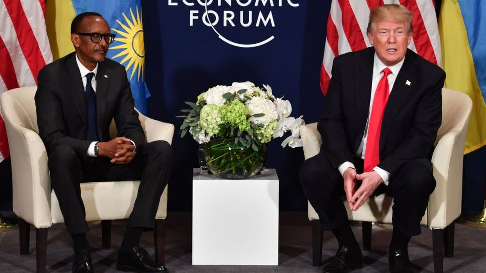 Rwandan President Paul Kagame and US President Donald Trump