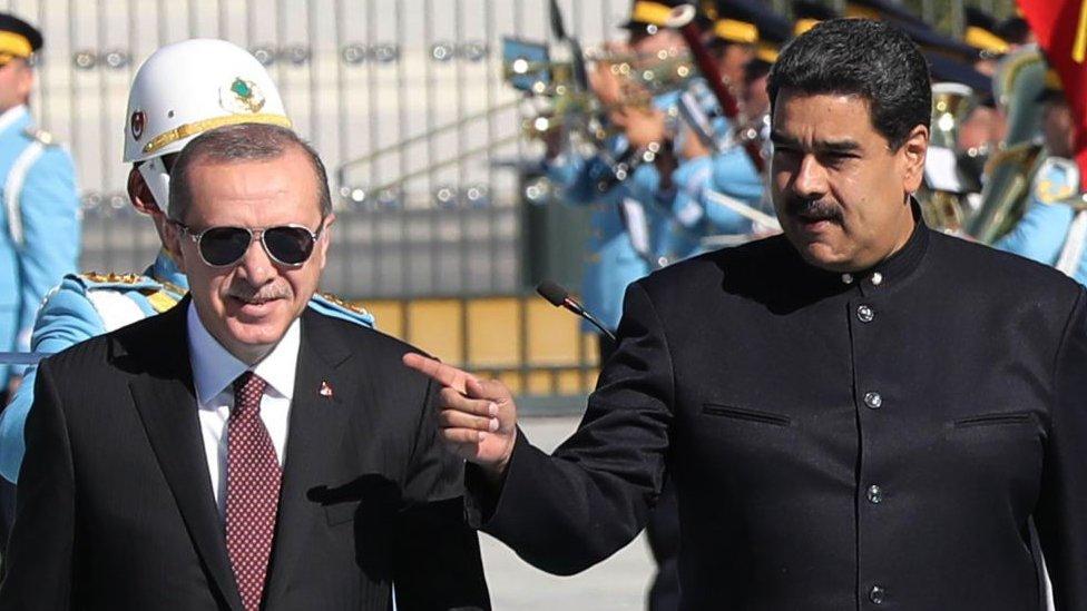 Nicolás Maduro y Recep Tayyip Erdogan.