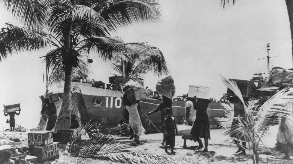 Traslado de la población del atolón Bikini
