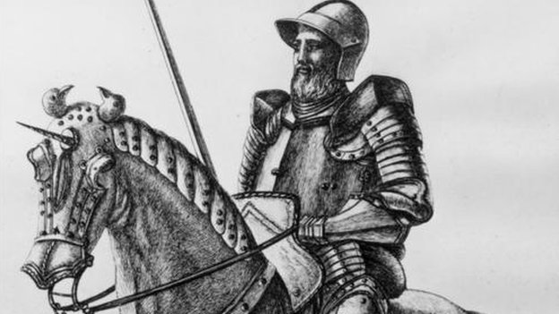 A 14th century knight in armour