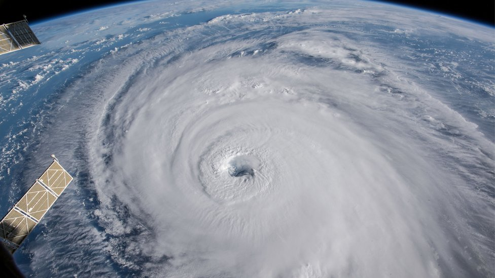 Hurricane Florence off the US east coast in the Atlantic Ocean
