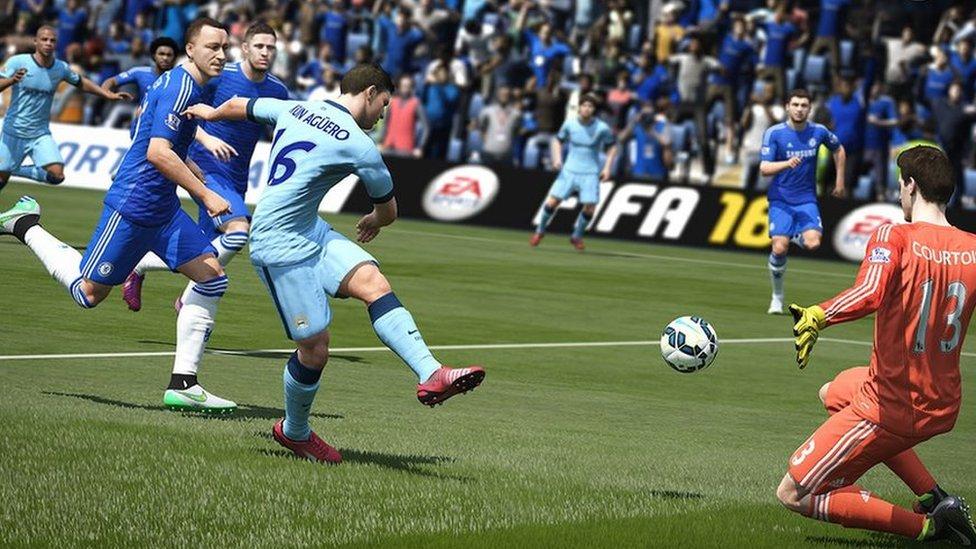 Screen shot of Man City in Fifa