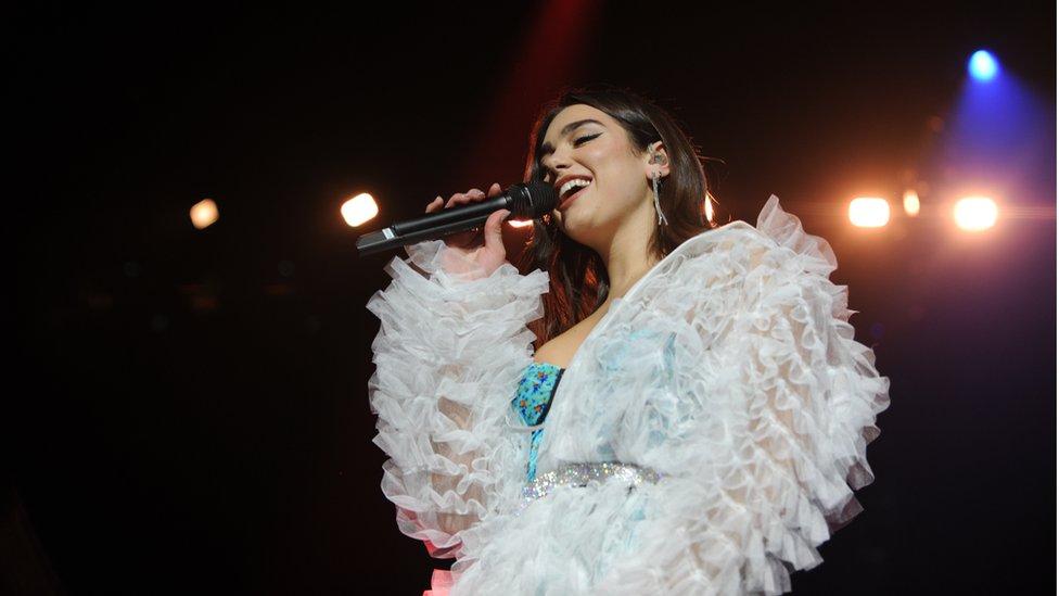 UK pop singer Dua Lipa