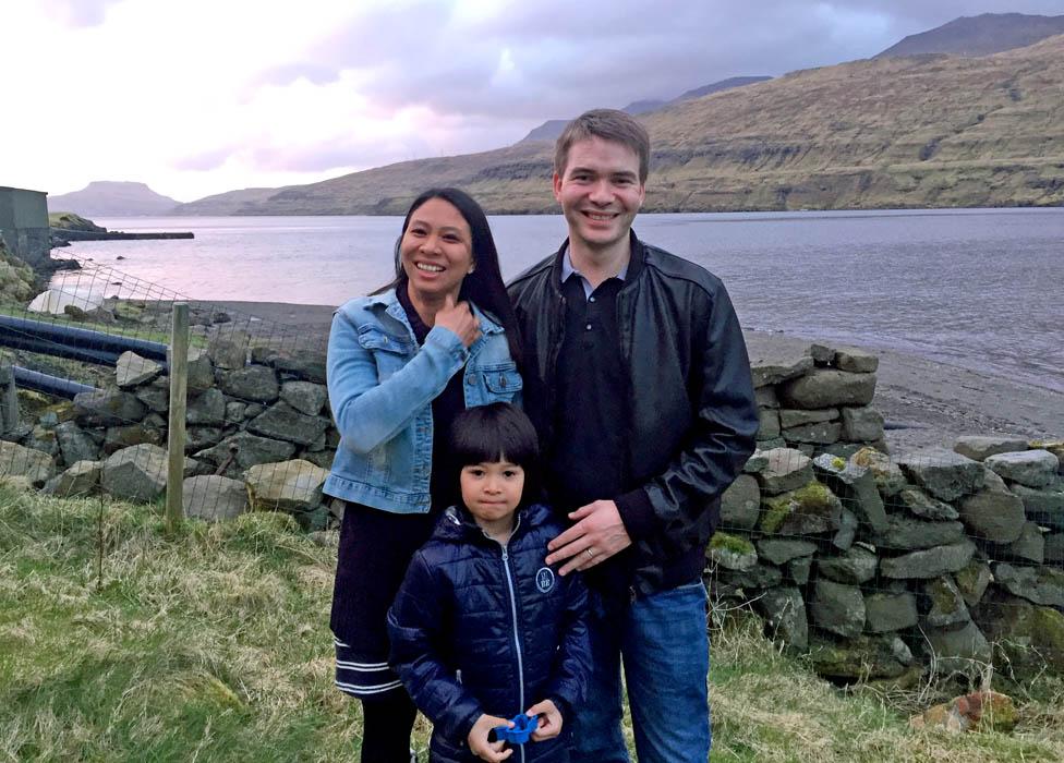 Athaya Slaetalid with husband Jan and their son Jacob