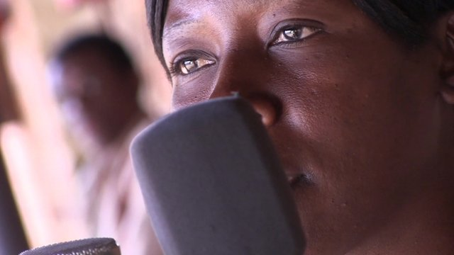 A member of the Zomba Prison Band