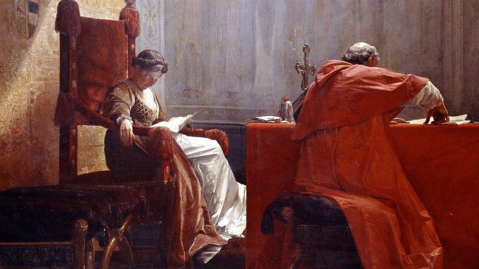 Lucrecia Borgia y su padre, el Papa Alejandro VI