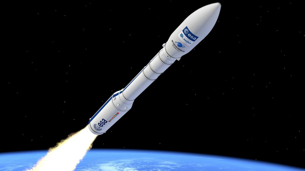 Artist's impression of a Vega rocket