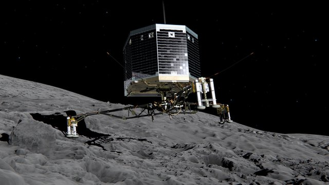 illustration of Philae landing