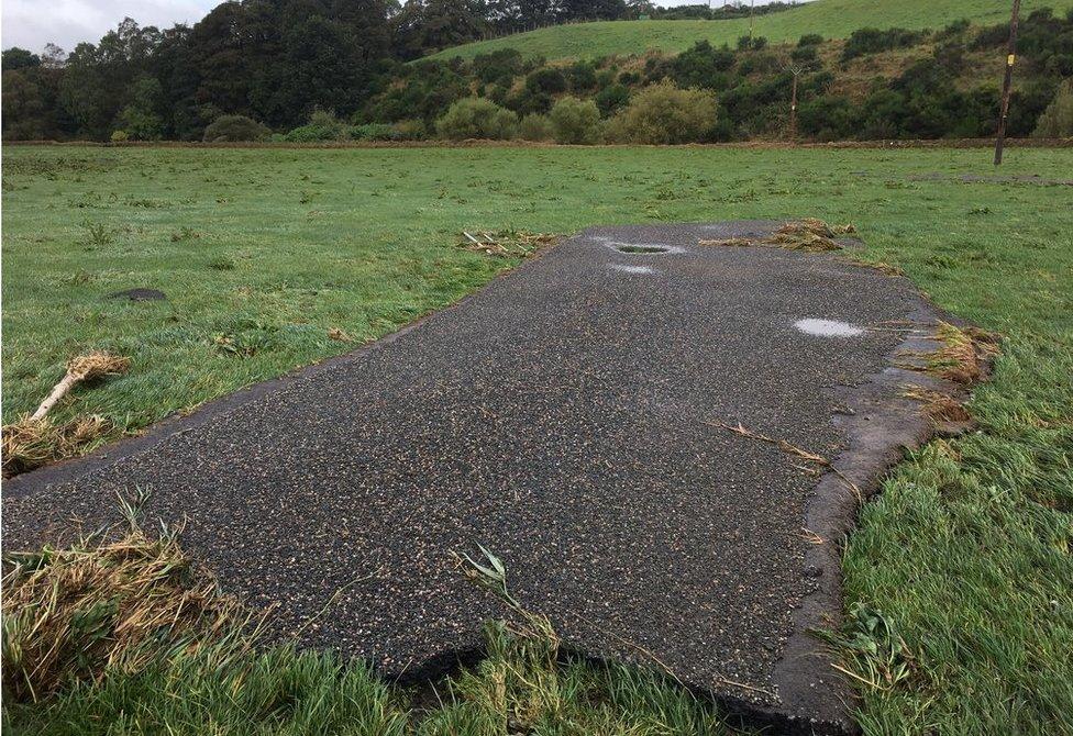 road surface in field