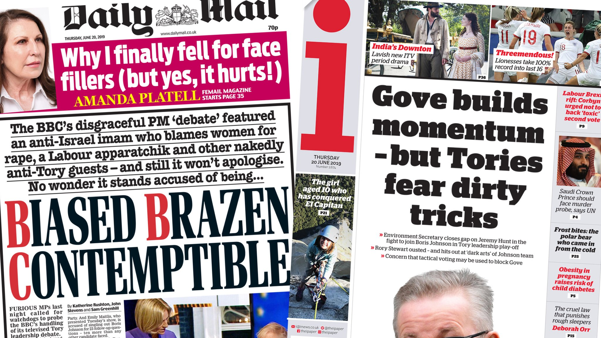 The Papers: BBC 'debate bias' and leadership race latest