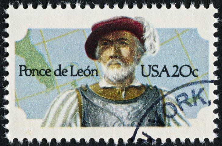 Estampilla con Juan Ponce de León