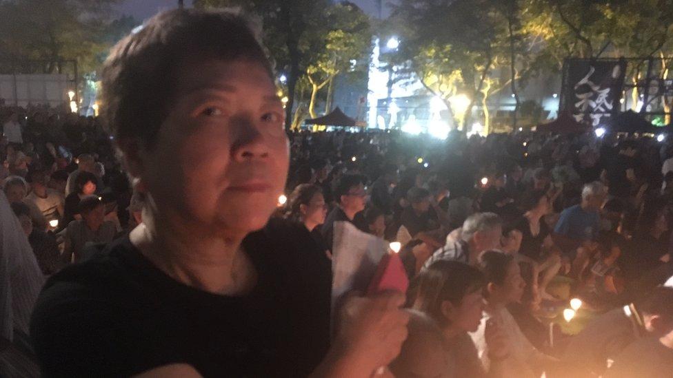 Protestor Teresa Chan
