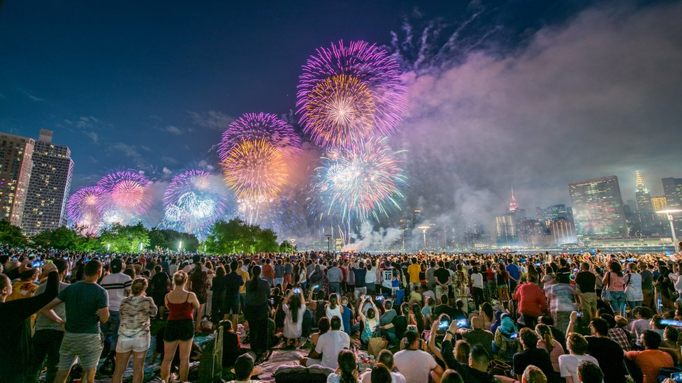 Image shows the 41st Annual Macy's 4th Of July Fireworks in 2017