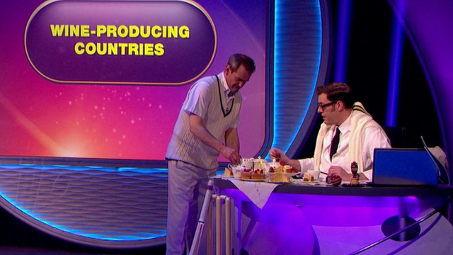 Alexander Armstrong and Richard Osman stop for a bit tea and cake during pointless