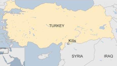 Turkey map, showing Kilis