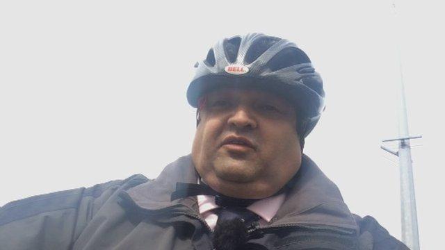 Nick Palit on a bike