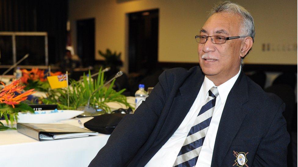 Prime Minister of Niue Toke Talagi