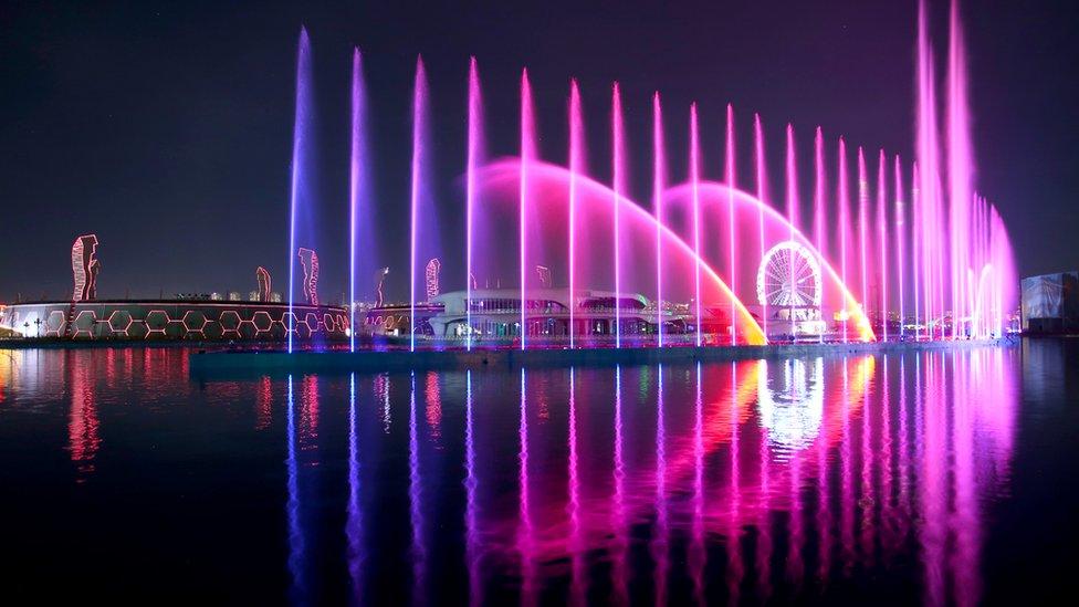 Ankapark'ta geceleri ışık ve su gösterileri yapılıyor