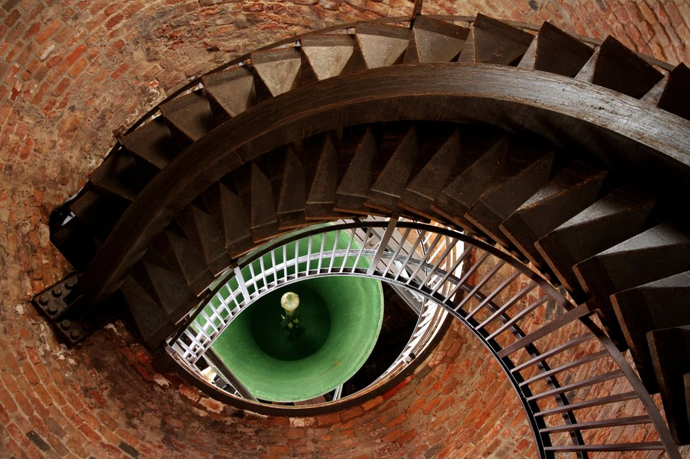 The eye of the tower in Verona, Italy