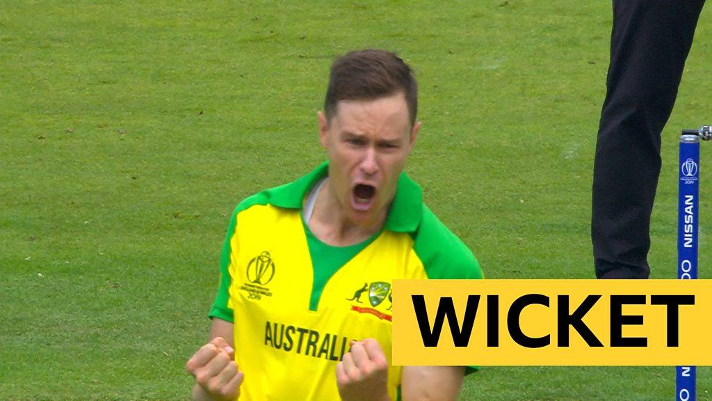 Cricket World Cup: Australia's Jason Behrendorff bowls England's James Vince