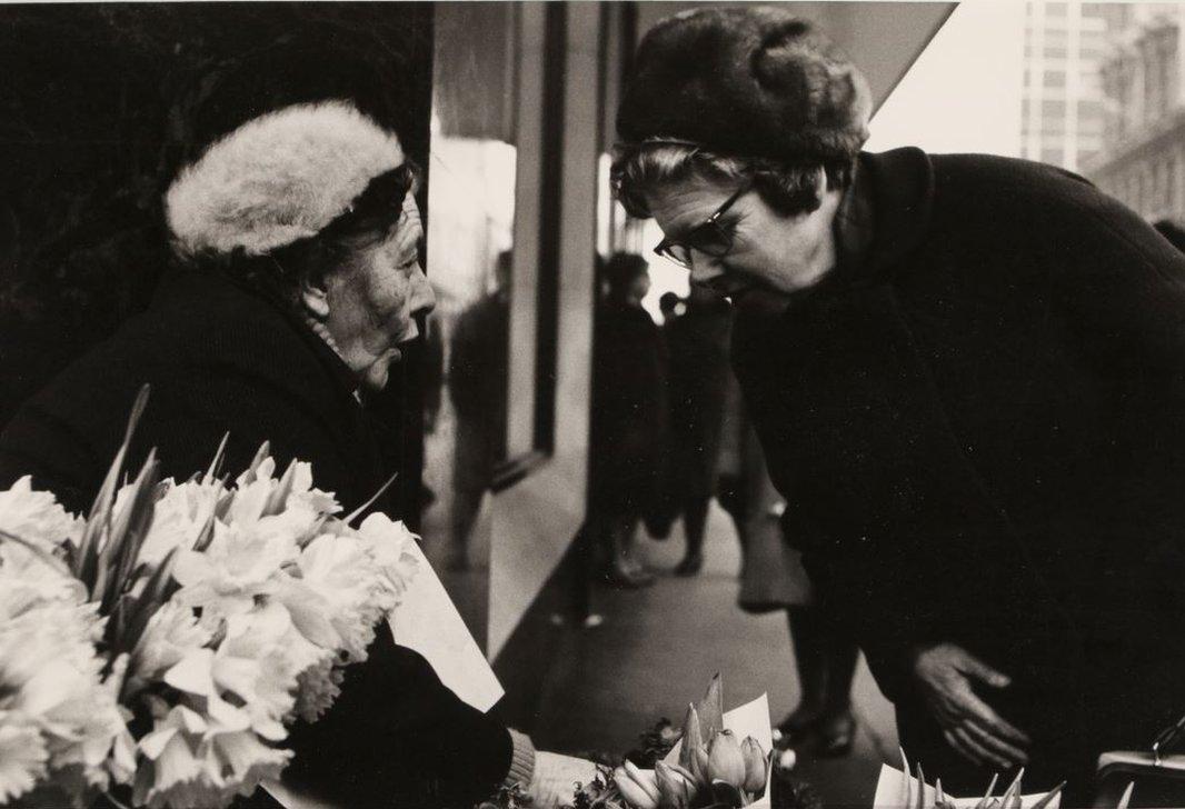 Flower seller at Copeland's corner, 1968