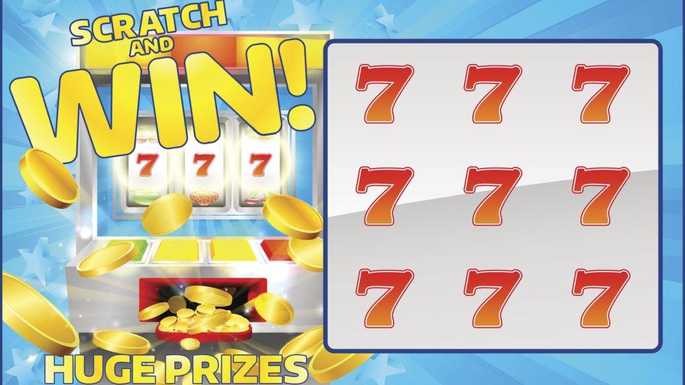 Scratch and win card