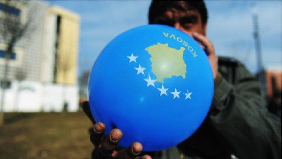 Balon sa mapom Kosova kao nezavisne države