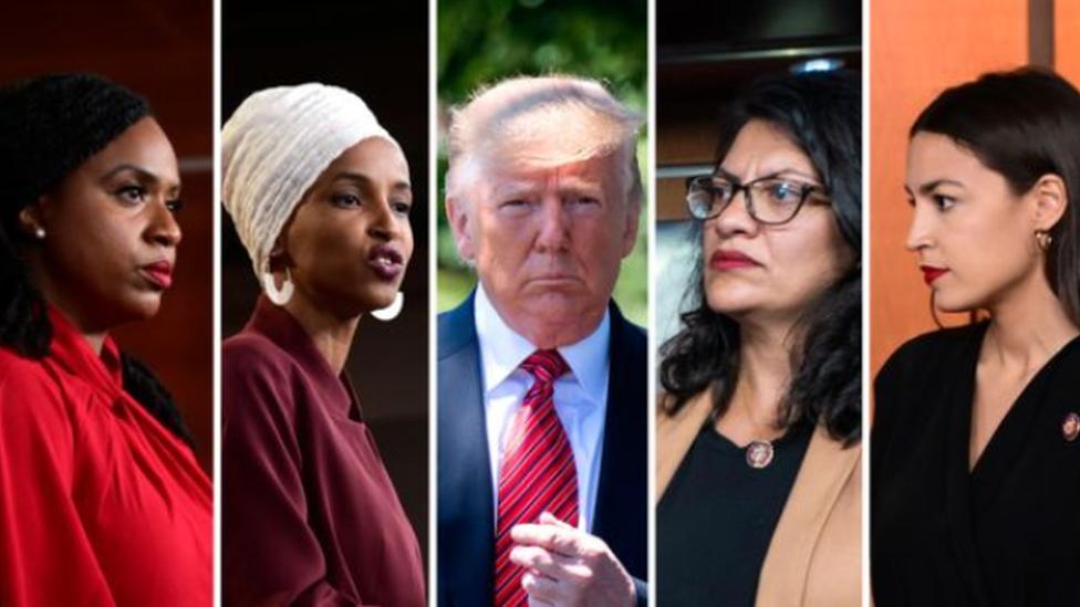 تغريدات ترامب ضد أربع عضوات ملونات في الكونغرس تثير موجة من الانتقادات ضده