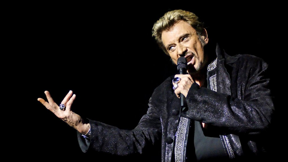 French singer Johnny Hallyday performing in 2006