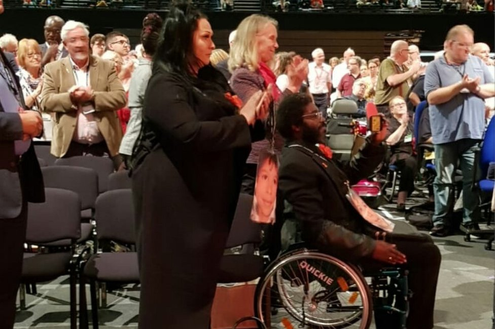 Nicole Lawler and Kye Gbangbola at the Labour Party conference