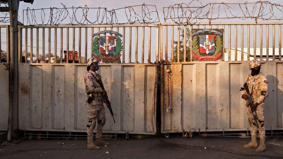 Frontera entre República Dominicana y Haití.