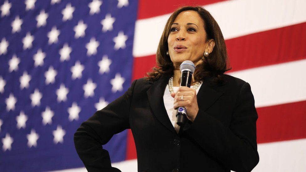 Biden S Vp Pick Why Kamala Harris Embraces Her Biracial Roots Bbc News