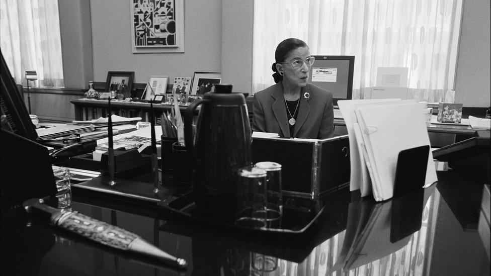 Ruth Bader Ginsburg en 2002.