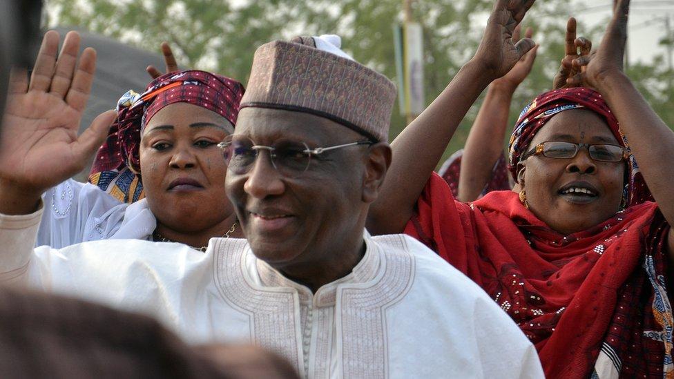 Presidential candidate Amadou Boubacar Cisse