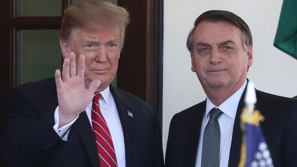 ترامب ورئيس البرازيل